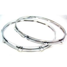"14"" x 8 Ten 2.3mm Triple Flanged Hoop Set Batter & Snare Sides  (Includes Shipping)"
